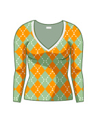 Argyle V Neck Knit