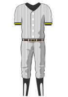 Stripe baseball uniform